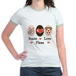 Peace Love Pizza Jr. Ringer T-Shirt