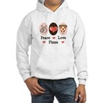 Peace Love Pizza Hooded Sweatshirt