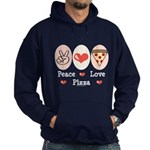 Peace Love Pizza Hoodie (dark)