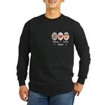 Peace Love Pizza Long Sleeve Dark T-Shirt