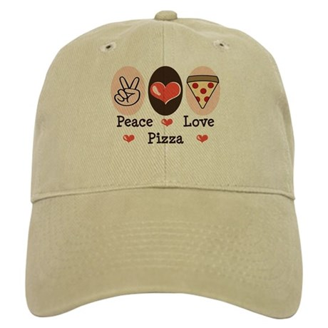 Peace Love Pizza Cap