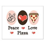 Peace Love Pizza Small Poster