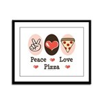 Peace Love Pizza Framed Panel Print