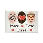 Peace Love Pizza Rectangle Magnet