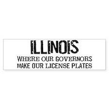 Illinois Governor Bumper Bumper Sticker