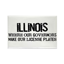 Illinois Governor Rectangle Magnet