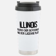 Illinois Governor Stainless Steel Travel Mug