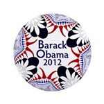 Big, Ornate Obama 2012 Button