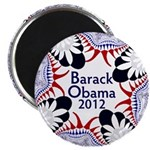 Ornate Re-Elect Obama 2012 Magnet