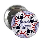 Ornate Barack Obama 2012 Button