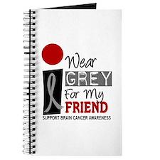 I Wear Grey For My Friend 9 Journal