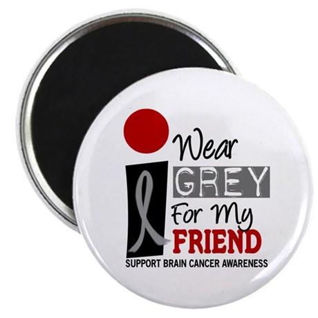 I Wear Grey For My Friend 9 Magnet