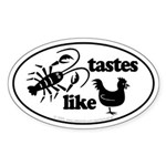 Crawfish tastes... Oval Sticker