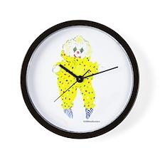 Amy's Yellow Doll Wall Clock