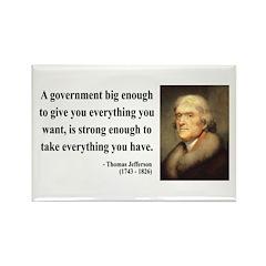 Thomas Jefferson 1 Rectangle Magnet (10 pack)