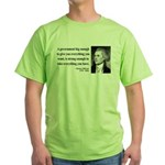 Thomas Jefferson 1 Green T-Shirt