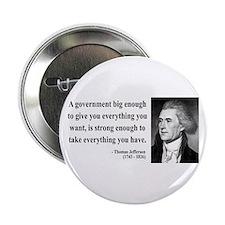 """Thomas Jefferson 1 2.25"""" Button"""