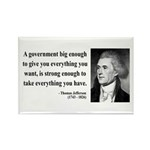 Thomas Jefferson 1 Rectangle Magnet (10 pack)