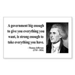 Thomas Jefferson 1 Rectangle Sticker