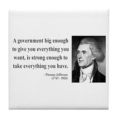 Thomas Jefferson 1 Tile Coaster