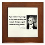 Thomas Jefferson 1 Framed Tile
