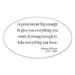 Thomas Jefferson 1 Oval Sticker