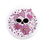 "Girly Punk Skull 3.5"" Button"