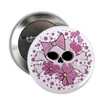 "Girly Punk Skull 2.25"" Button"