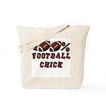 100% Football Chick Tote Bag