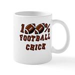 100% Football Chick Mug
