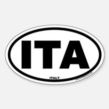 Italy ITA Euro Oval Country Code Decal