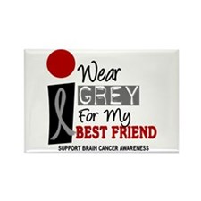 I Wear Grey For My Best Friend 9 Rectangle Magnet