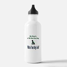 I'm a TBI service dog Water Bottle