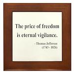 Thomas Jefferson 2 Framed Tile