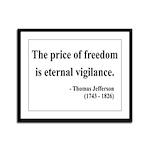 Thomas Jefferson 2 Framed Panel Print