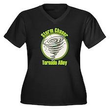 Storm Chaser Logo Women's Plus Size V-Neck Dark T-