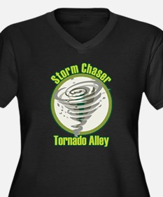 Storm Chaser Logo Women's Plus Size V-Neck Dark T-