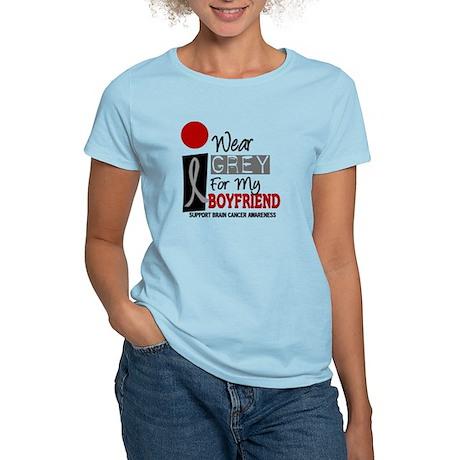 I Wear Grey For My Boyfriend 9 Women's Light T-Shi