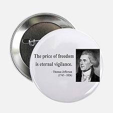 """Thomas Jefferson 2 2.25"""" Button"""
