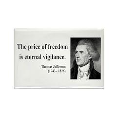 Thomas Jefferson 2 Rectangle Magnet (100 pack)