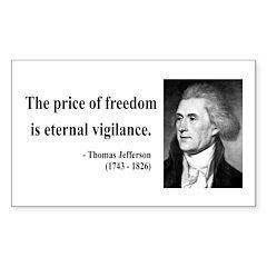 Thomas Jefferson 2 Rectangle Decal