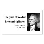 Thomas Jefferson 2 Rectangle Sticker
