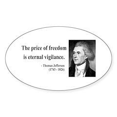 Thomas Jefferson 2 Oval Decal