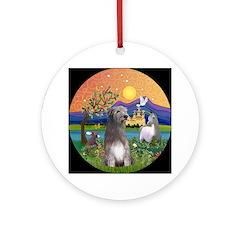 Irish Wolfhound in Fantasy Land Ornament (Round)