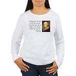 Thomas Jefferson 3 Women's Long Sleeve T-Shirt