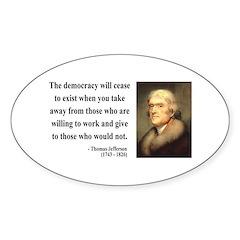 Thomas Jefferson 3 Oval Decal