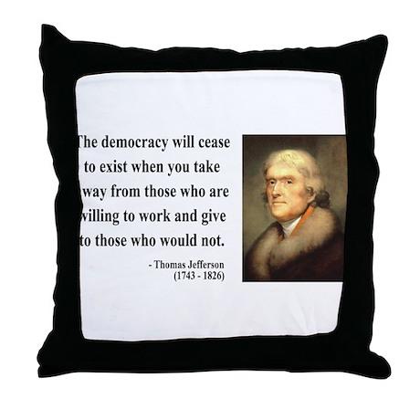 Thomas Jefferson 3 Throw Pillow