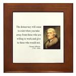 Thomas Jefferson 3 Framed Tile