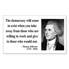 Thomas Jefferson 3 Rectangle Decal