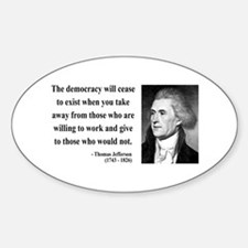 Thomas Jefferson 3 Oval Decal